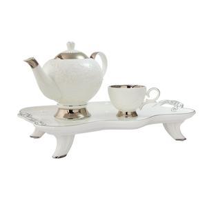 سرویس چای خوری 8 پارچه کالاندی مدل Embossed Flower
