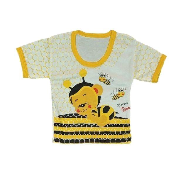 تی شرت آستین کوتاه نوزادی طرح زنبور