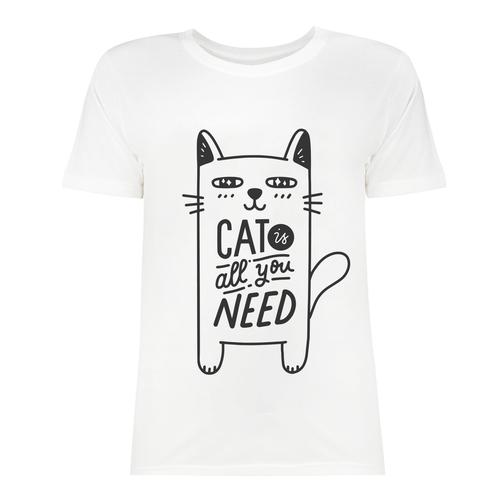 تی شرت زنانه طرح Cat Is All You Need کد 2870