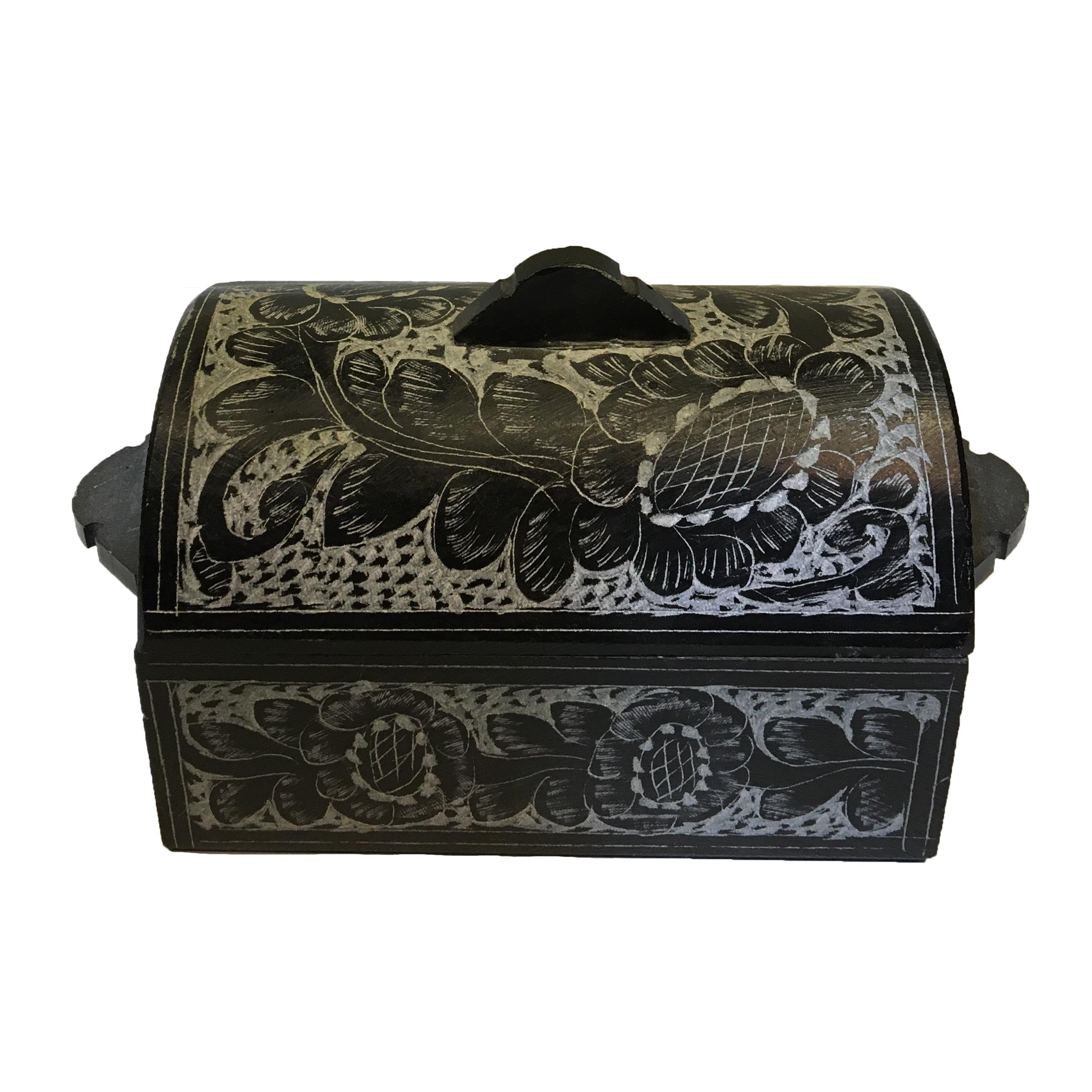 جعبه جواهرات مدل گل سنگ کد 02