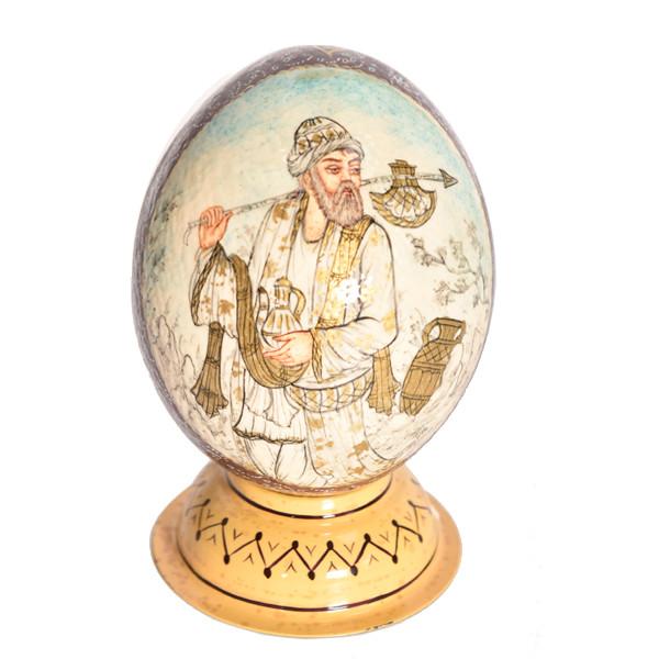 تخم شتر مرغ تزئینی طرح درویش کد 888