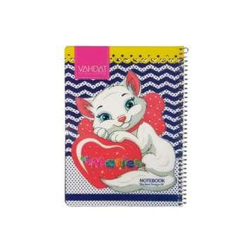 دفتر نقاشی 50 برگ وحدت طرح گربه کد 9