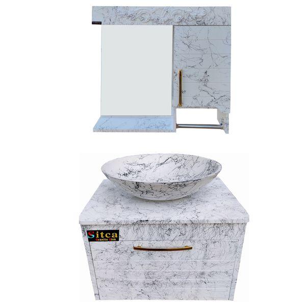ست کابینت و روشویی سیتکا مدل R004 به همراه آینه و باکس