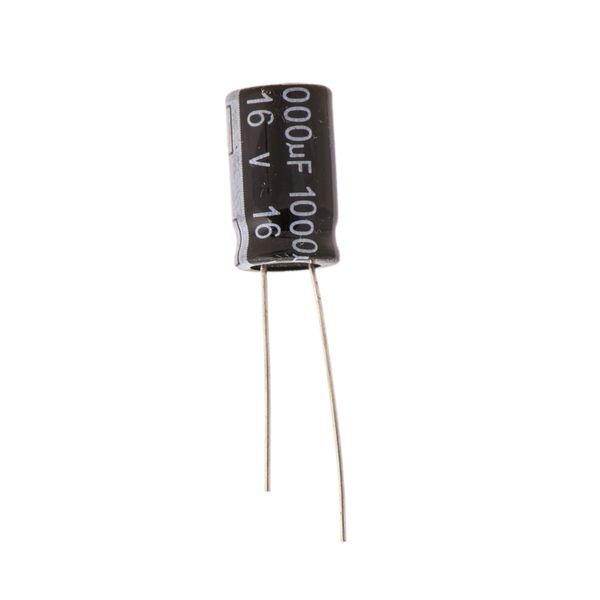 خازن الکترولیت 1000 میکرو فاراد کد 16v بسته 10 عددی