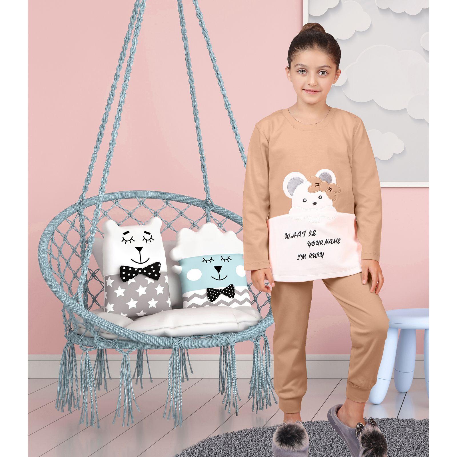 ست تی شرت و شلوار دخترانه مادر مدل 301-80 main 1 7