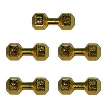 پلاک دستبند طرح دمبل کد 107 بسته 5 عددی