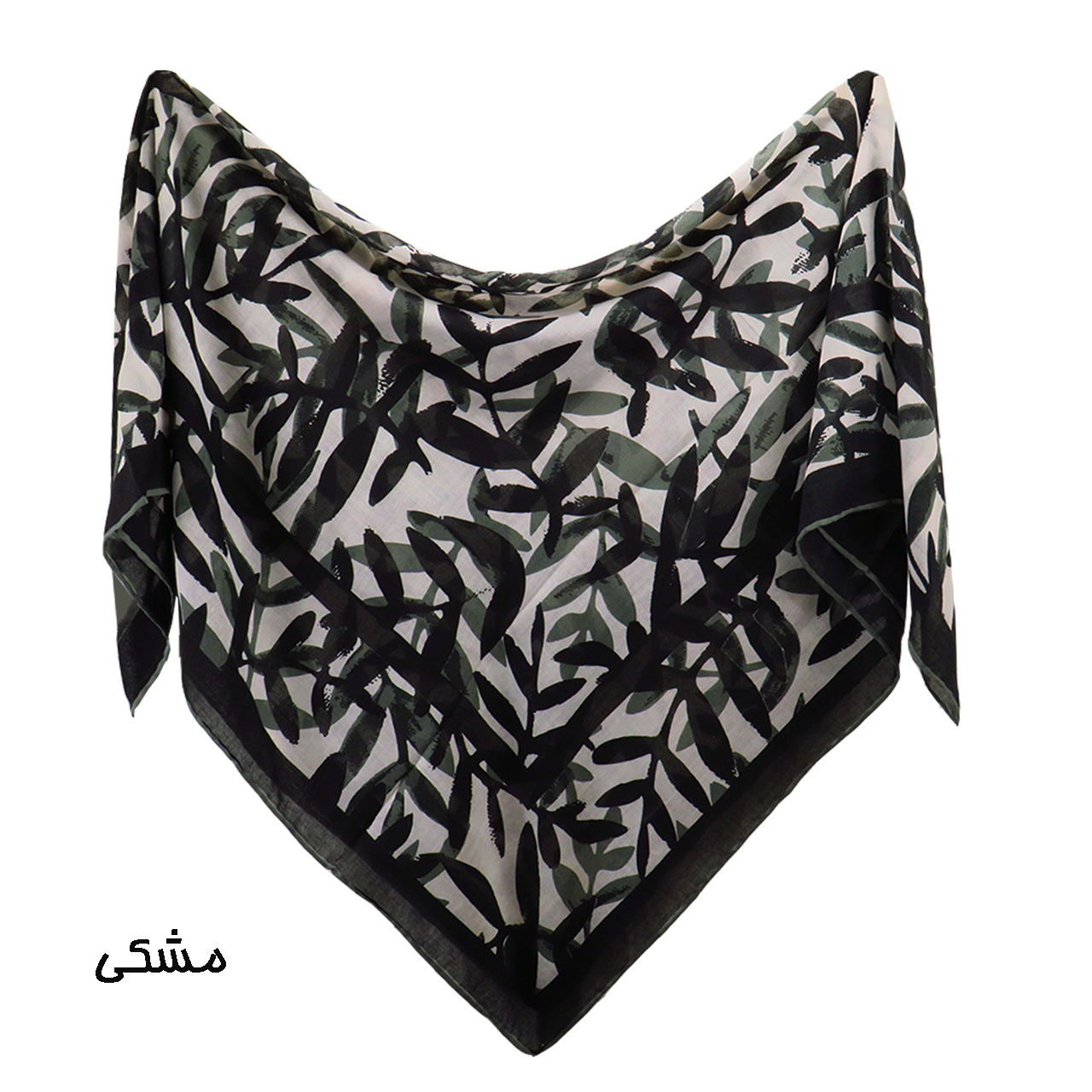 روسری زنانه لمیز مدل برگ  -  - 5