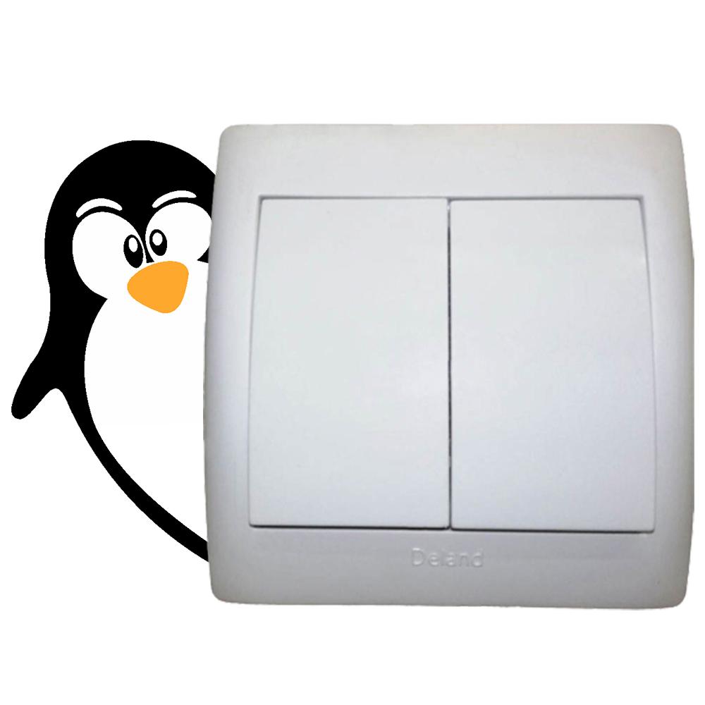 استیکر فراگراف کلید و پریز FG طرح پنگوئن کد 043