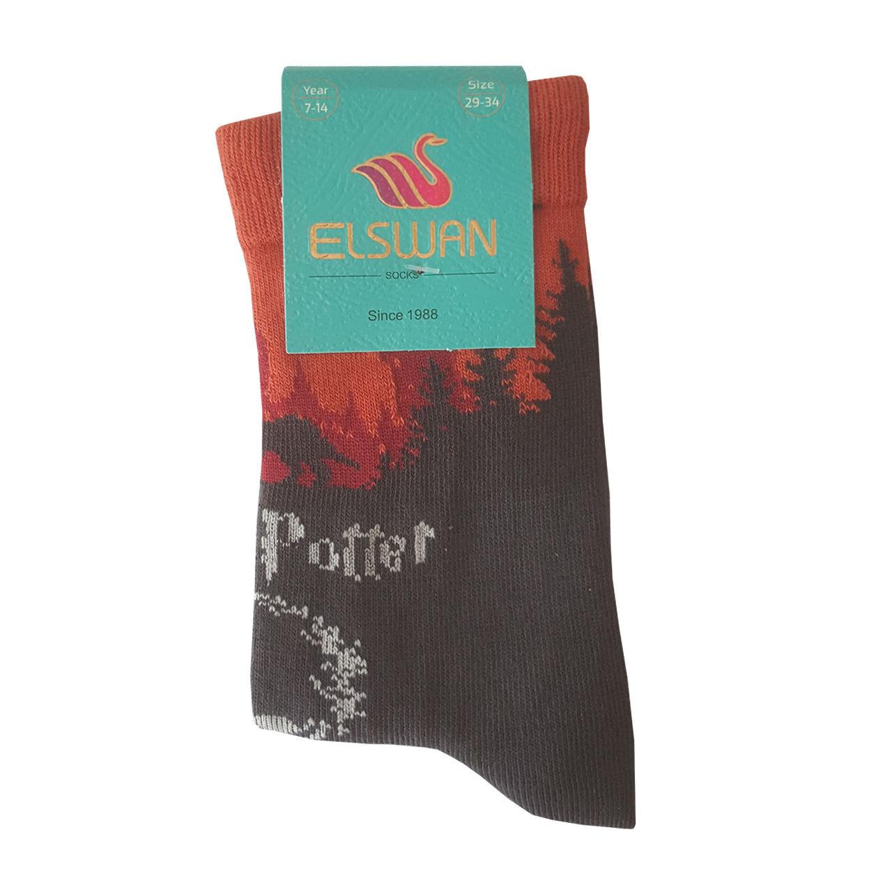 جوراب پسرانه ال سون طرح هری پاتر کد PH409 -  - 5