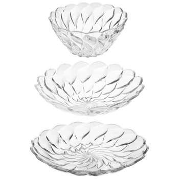 ست پذیرایی 3 پارچه شیشه وبلور اصفهان مدل فلورانس