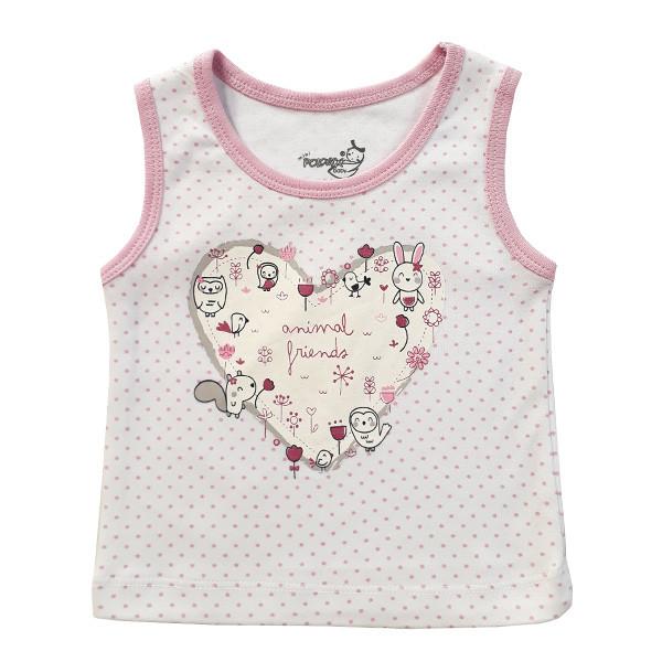 تاپ نوزادی دخترانهپولونیکس  طرح جغد کد 021