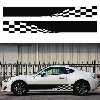 برچسب بدنه خودرو سهیل چاپ طرح اسپرت پرچم کد S02 بسته ۲ عددی