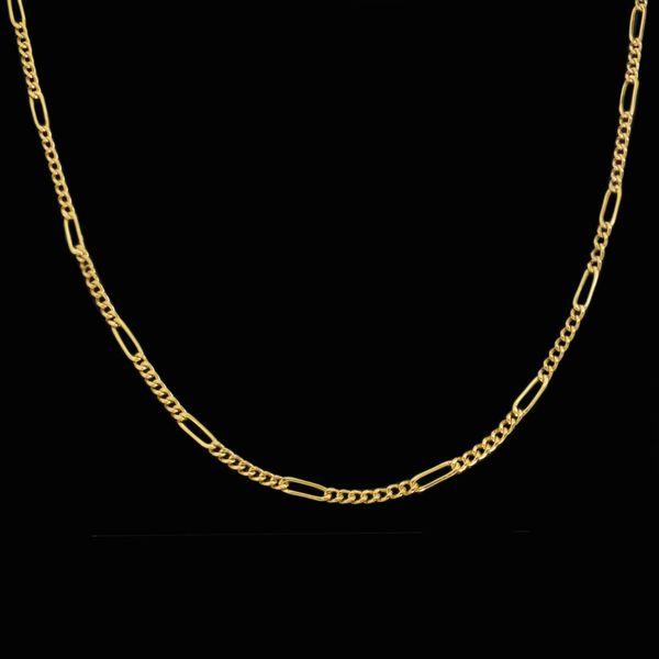 زنجیر طلا 18 عیار زنانه طلای مستجابی مدل فیگارو کد M02