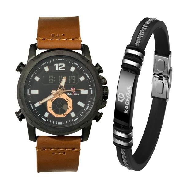 ست ساعت مچی دیجیتال و دستبند مردانه کیدمن مدل K9036G
