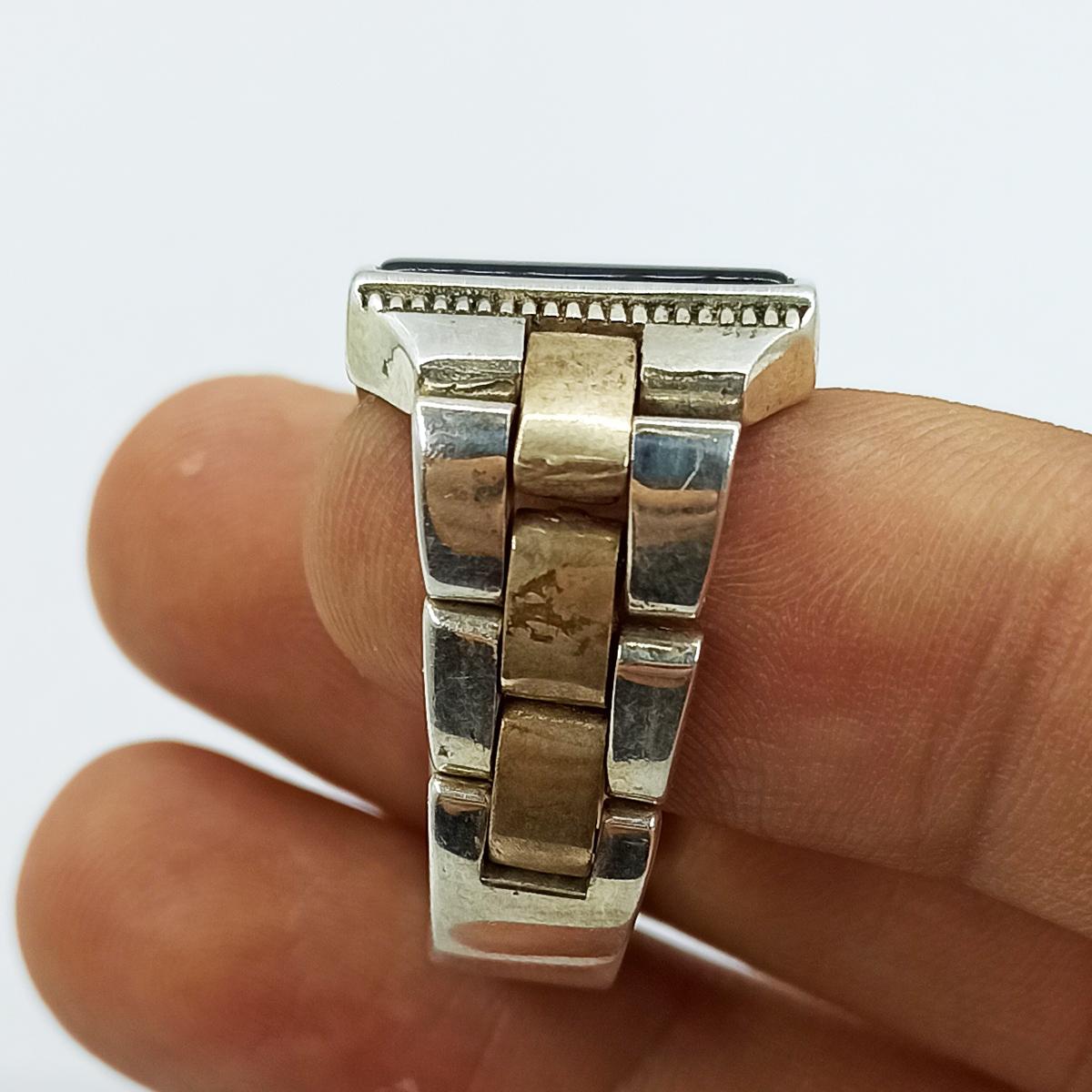 انگشتر نقره مردانه سلین کالا مدل عقیق ce-As128