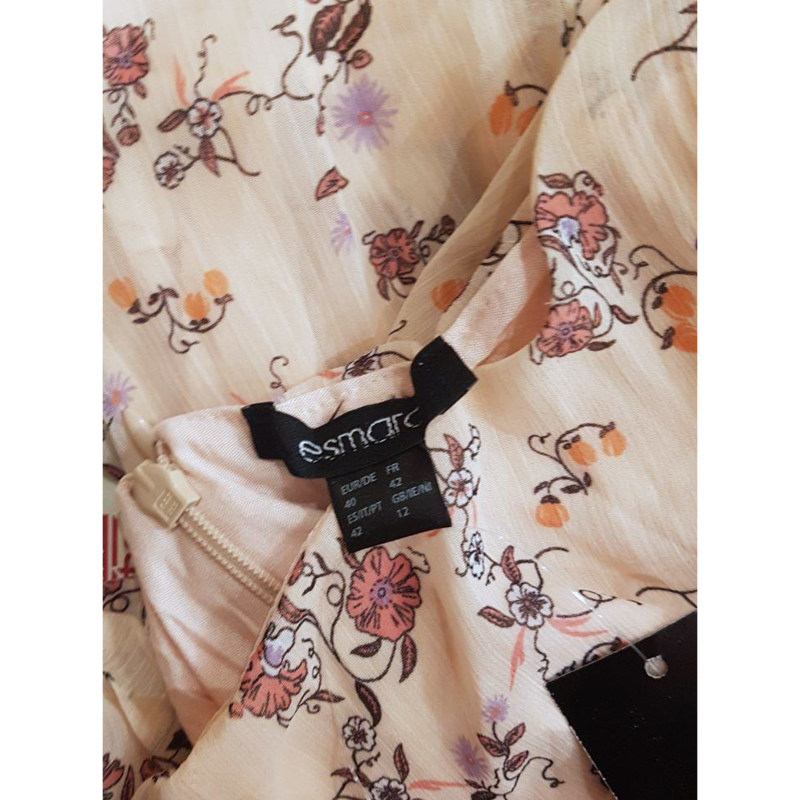 پیراهن زنانه اسمارا طرح شکوفه مدل SpringPNK