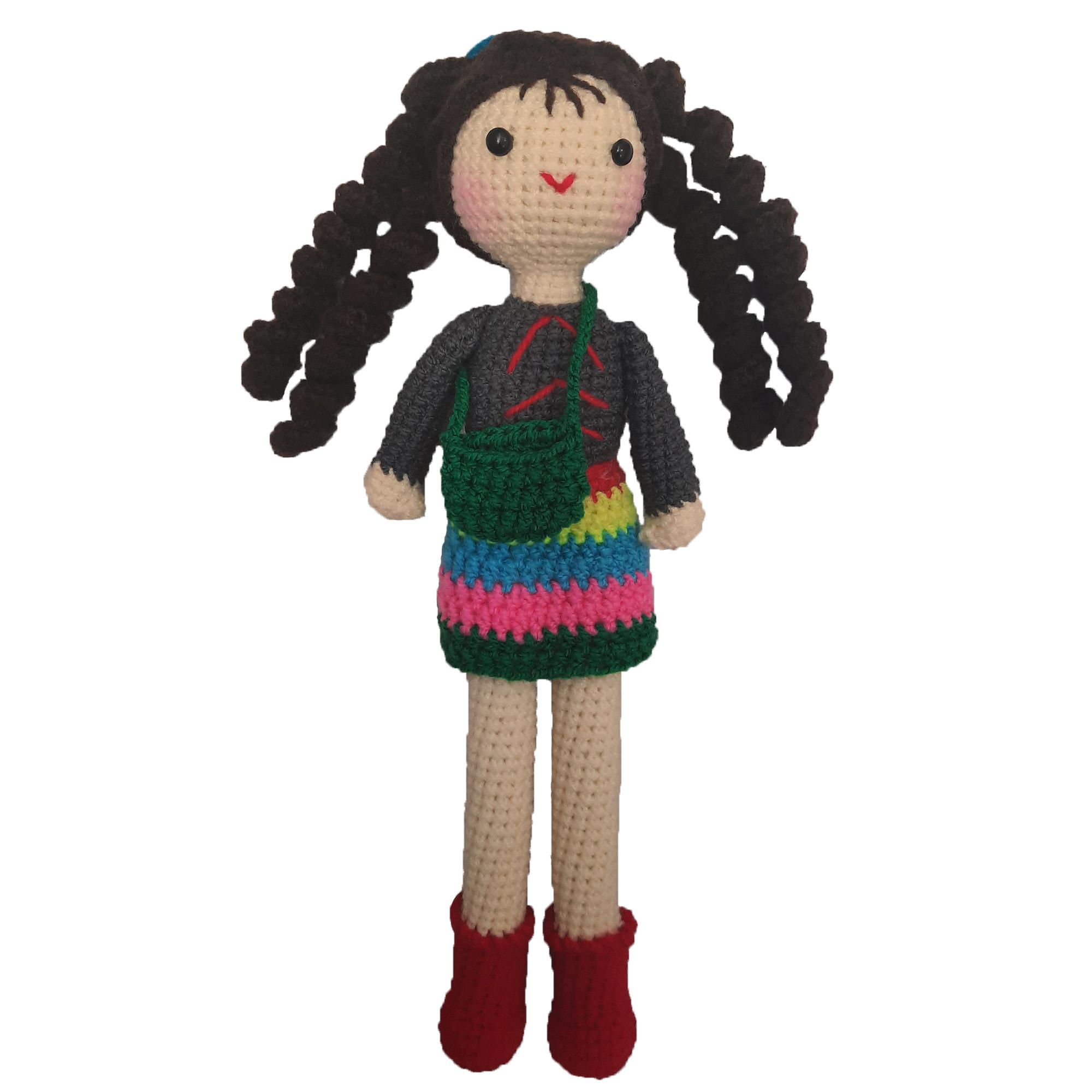 عروسک بافتنی مدل دختر کد 010