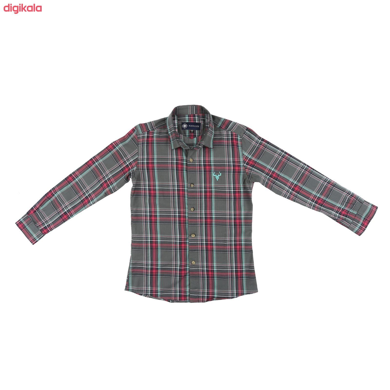 پیراهن پسرانه ناوالس کد G-20119-GY main 1 1
