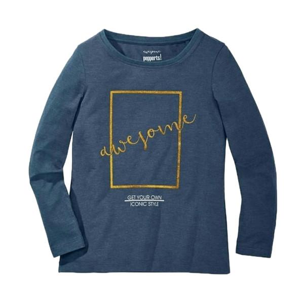 تی شرت آستین بلند دخترانه پیپرتس کد 534
