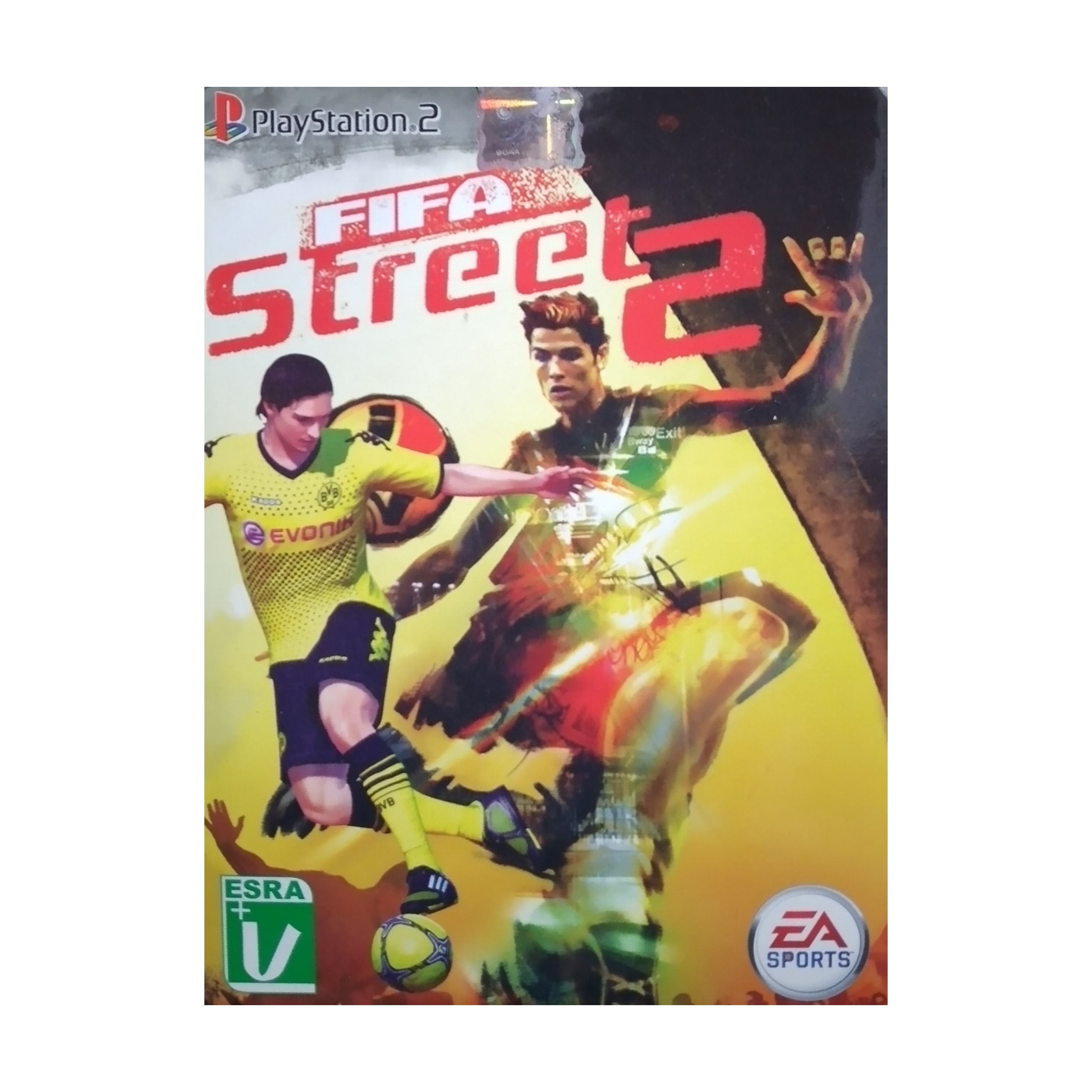 بازی FIFA STREET 2 مخصوص PS2 نشر لوح زرین