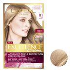 کیت رنگ مو لورآل مدل Excellence شماره 8.1 حجم 48 میلی لیتر رنگ بلوند دودی روشن thumb