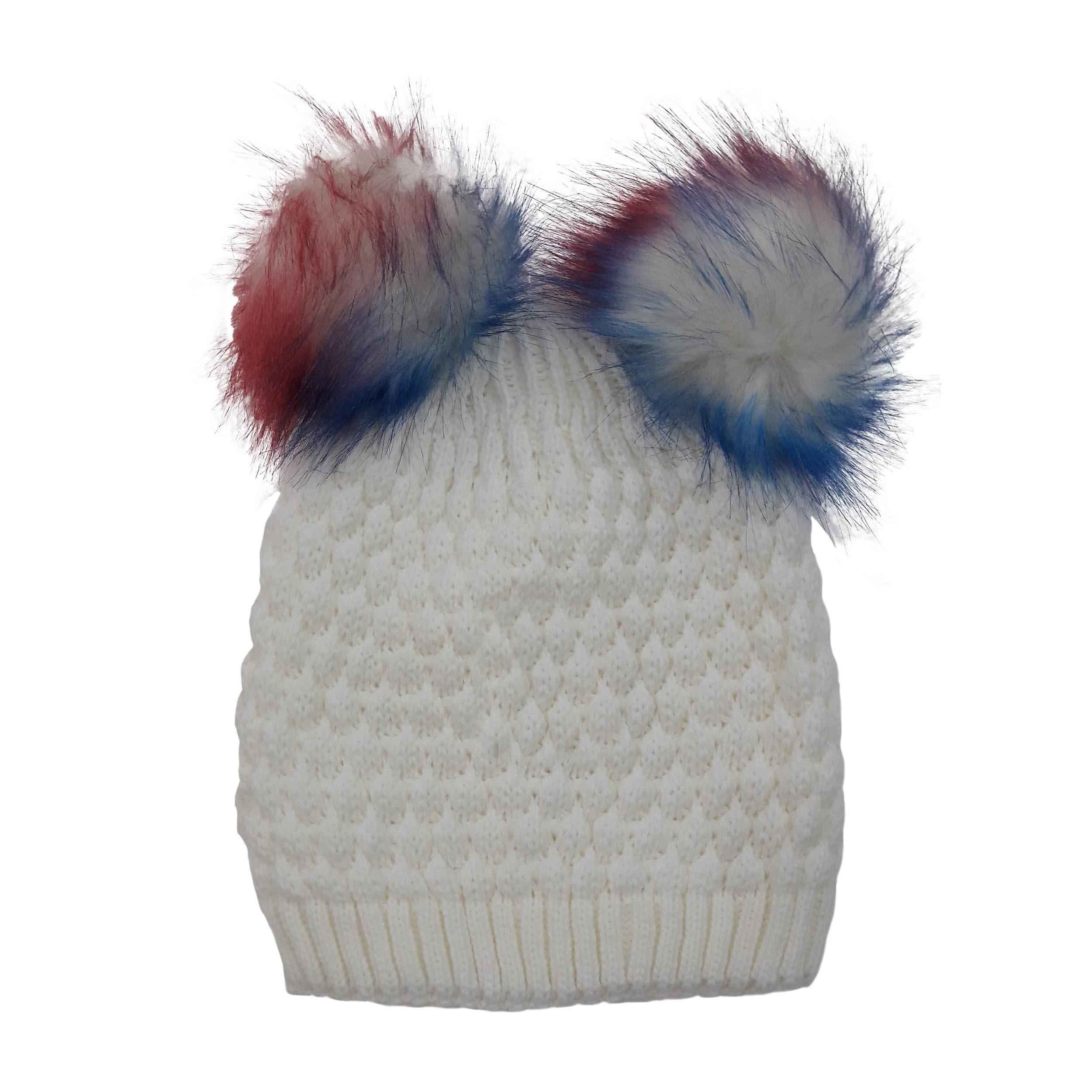 کلاه بافتنی دخترانه  کد 1023