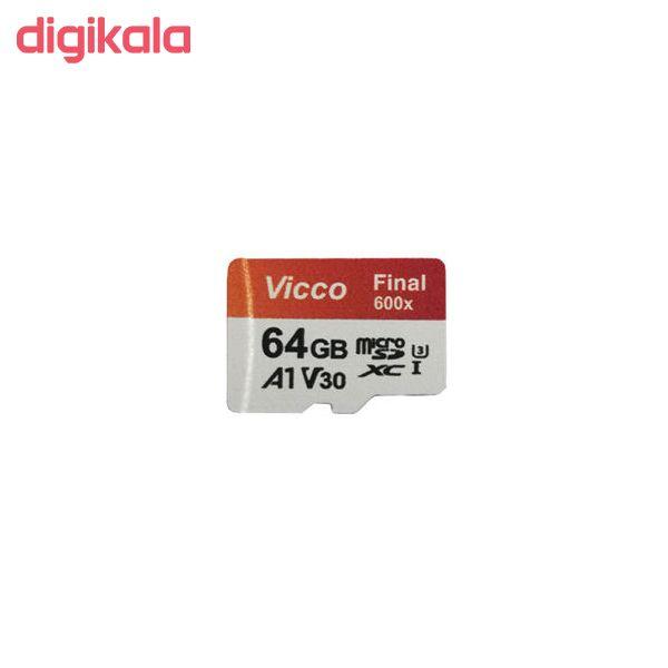 کارت حافظه microSDHC ویکو من مدل Extre600X کلاس 10 استاندارد UHS-I U3 سرعت 90MBps ظرفیت 64گیگابایت همراه با کارت خوان main 1 3