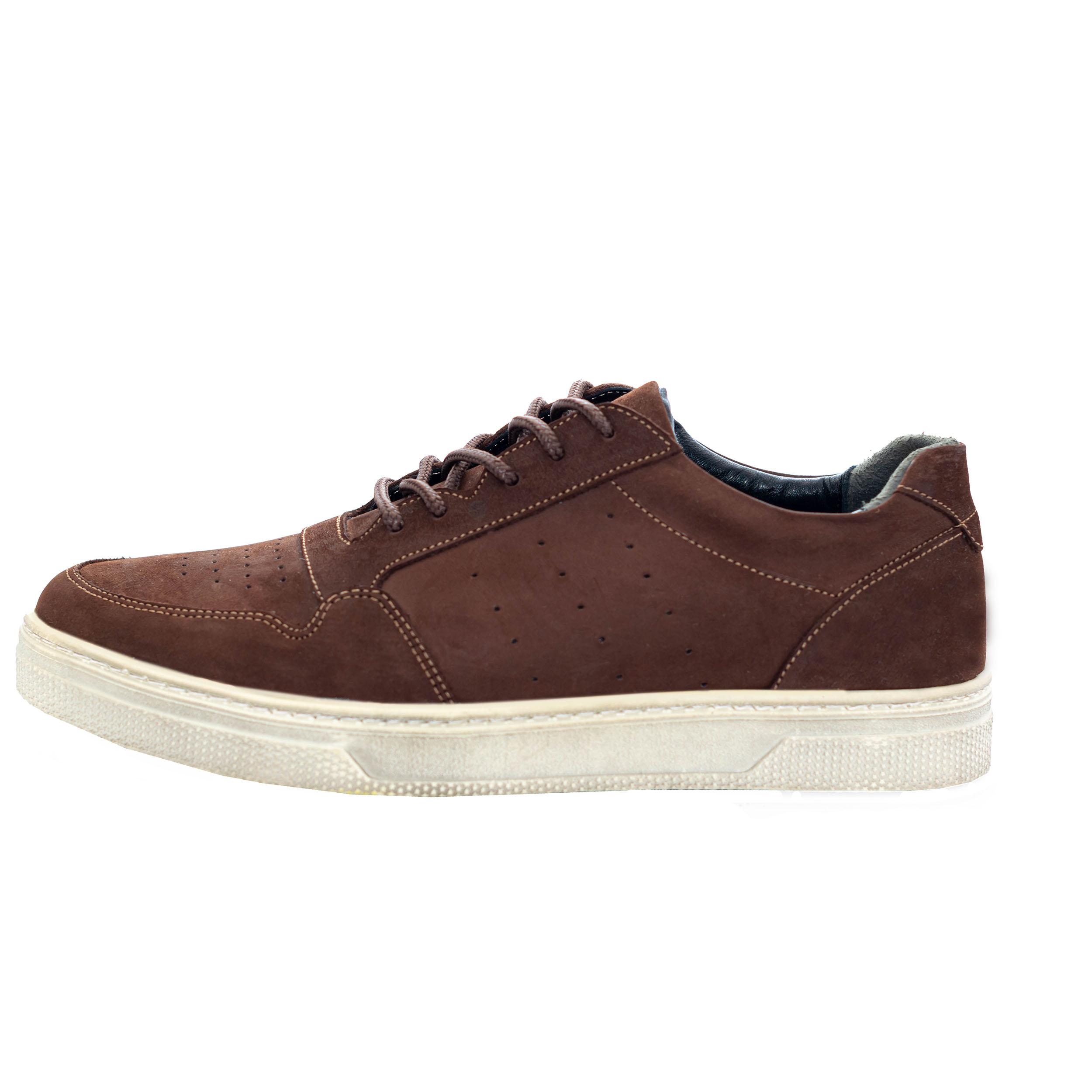 کفش روزمره مردانه مدل  آراد کد A7 رنگ قهوه ای