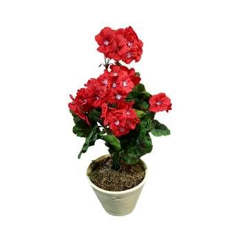 گلدان به همراه گل مصنوعی طرح شمعدانی کد HG4