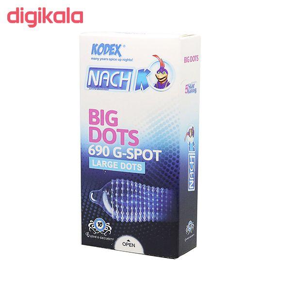 کاندوم ناچ کدکس مدل BIG DOTS بسته 10 عددی به همراه کاندوم کاپوت مدل BIG DOTS بسته 10 عددی main 1 1