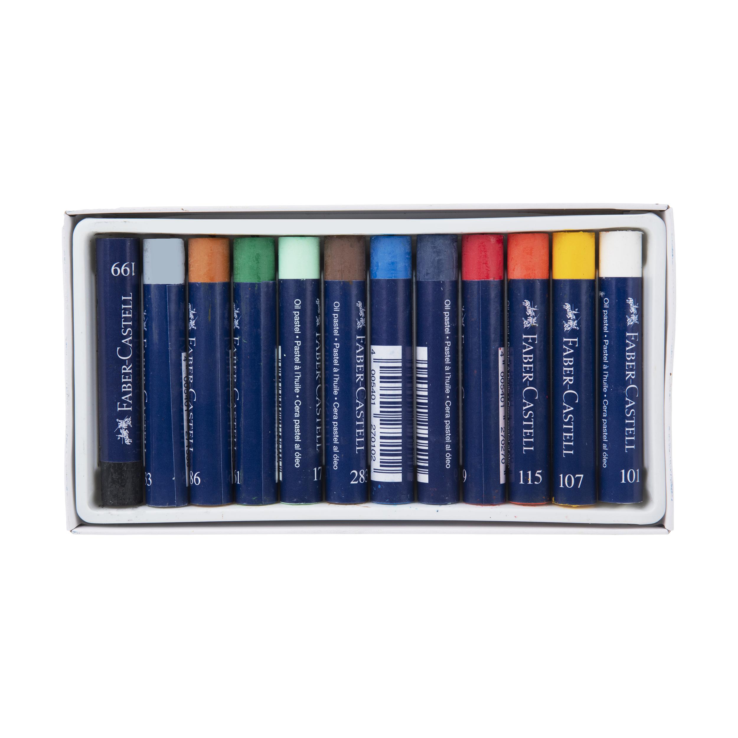 پاستل گچی 12 رنگ فابر-کاستل سری Creative Studio مدل Studio Quality