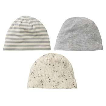 کلاه نوزادی لوپیلو کد K1 مجموعه 3 عددی