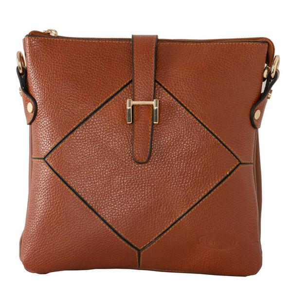 کیف دوشی زنانه پارینه چرم مدل plv222-1