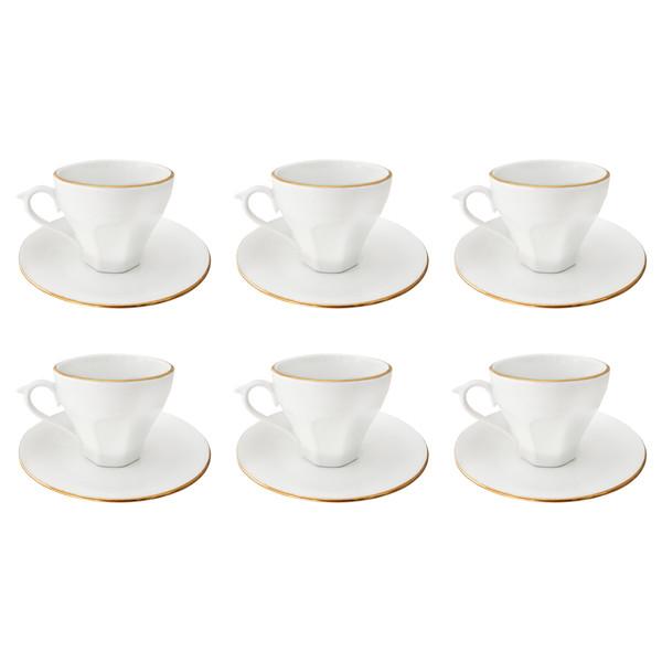 ست فنجان و نعلبکی 12 پارچه مقصود کد FN011