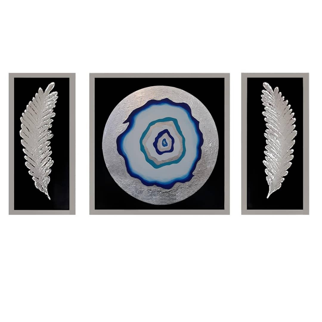 تابلو نقاشی طرح چشم نظر مجموعه 3 عددی