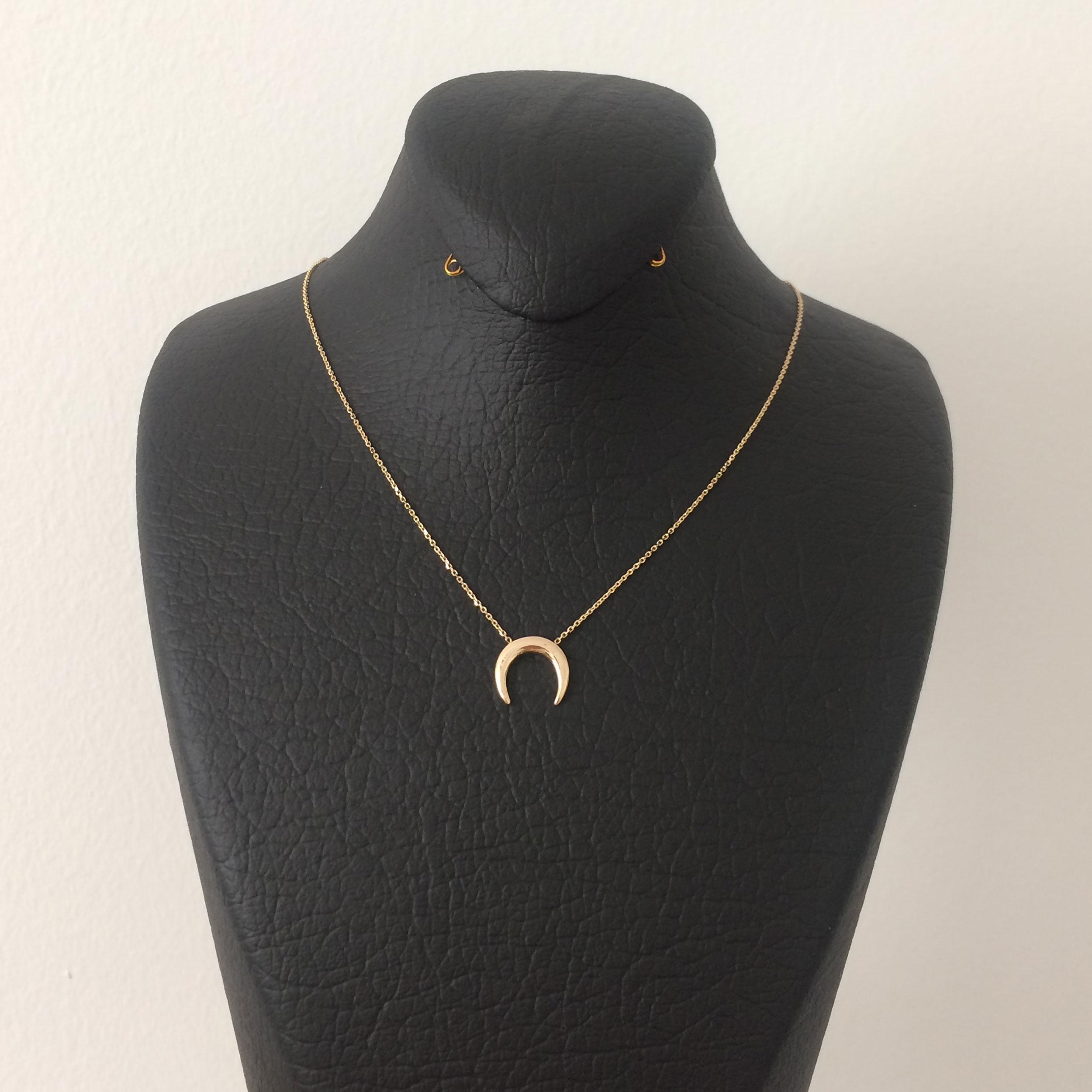 گردنبند طلا 18 عیار زنانه الماسین آذر مدل Mah01