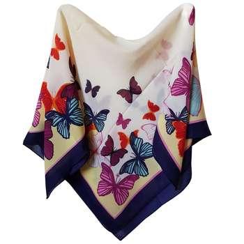 روسری دخترانه طرح پروانه کد san_022