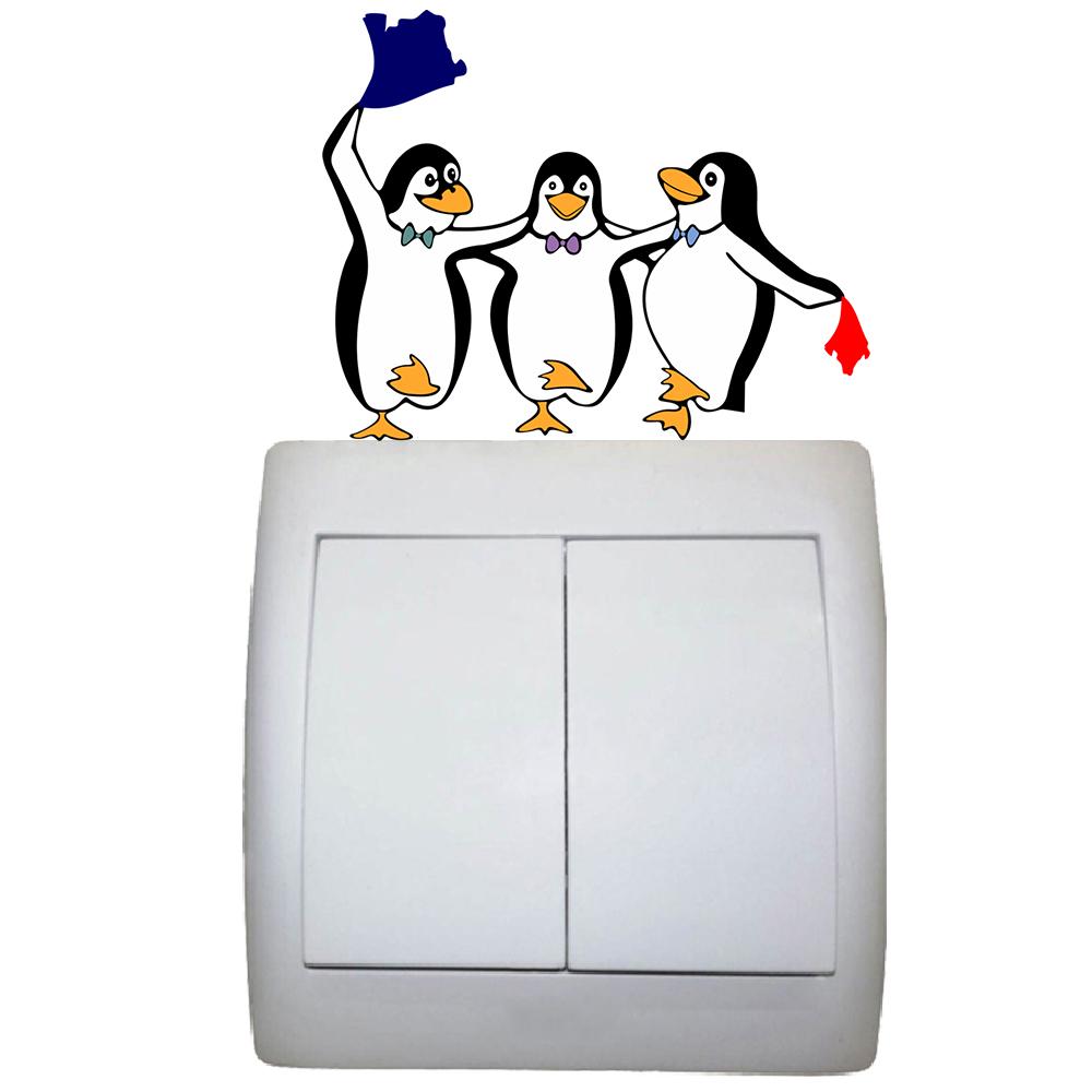 استیکر فراگراف FG طرح پنگوئن های رقاص کد 1206