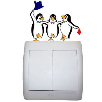 استیکر مستر راد طرح پنگوئن های رقاص کد 1206