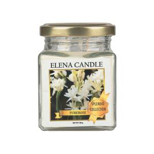 شمع لیوانی النا مدل گل مریم کد 120g