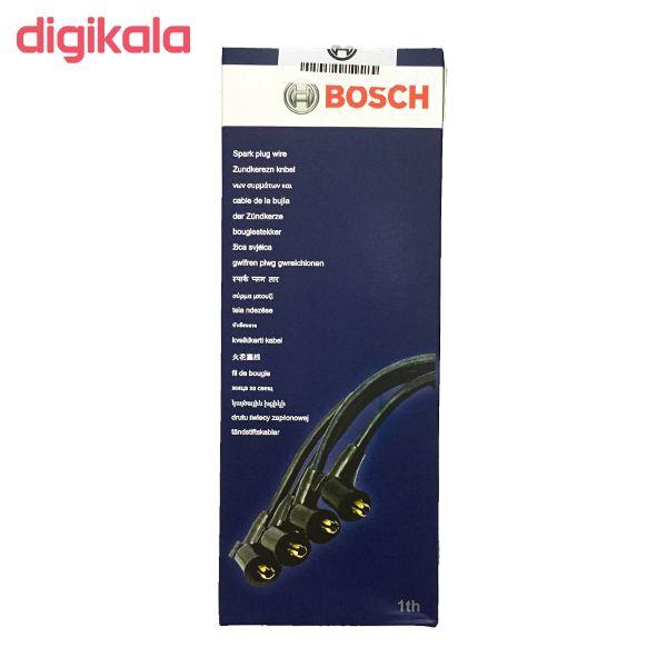 وایر شمع خودرو بوش مدل 004 مناسب برای پراید ساژم بسته 4 عددی  main 1 1