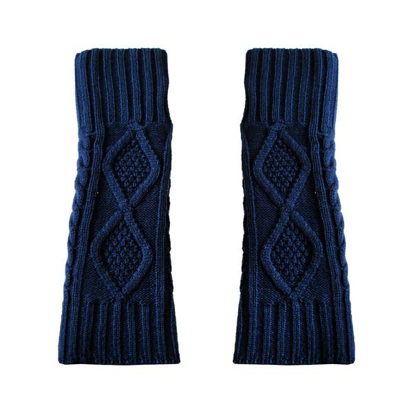 ساق دست بافتنی زنانه مدل LOZ کد 30760 رنگ سرمه ای
