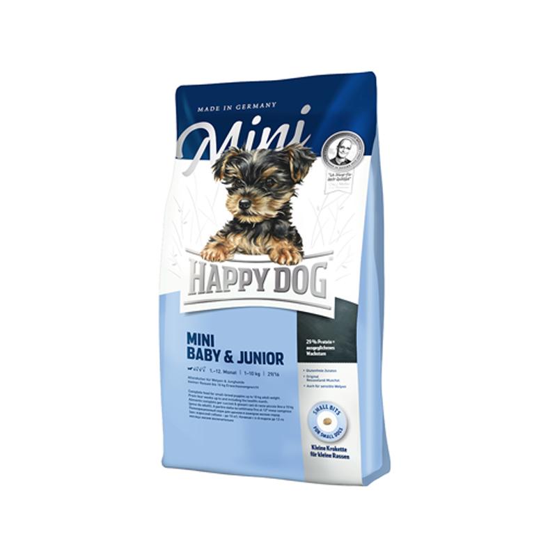 غذای خشک توله سگ هپی داگ مدل Baby&Jounior وزن 1 کیلوگرم