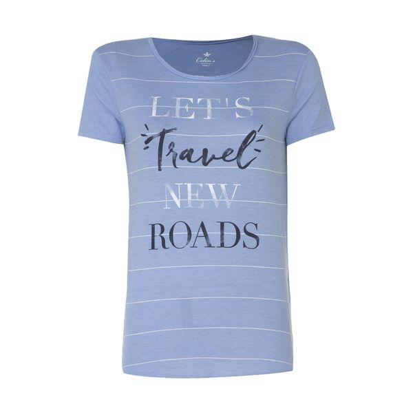 تی شرت زنانه کالینز مدل CL1026819-BLUEMELANGE