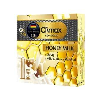 کاندوم کلایمکس مدل 12 honey milk بسته 3 عددی