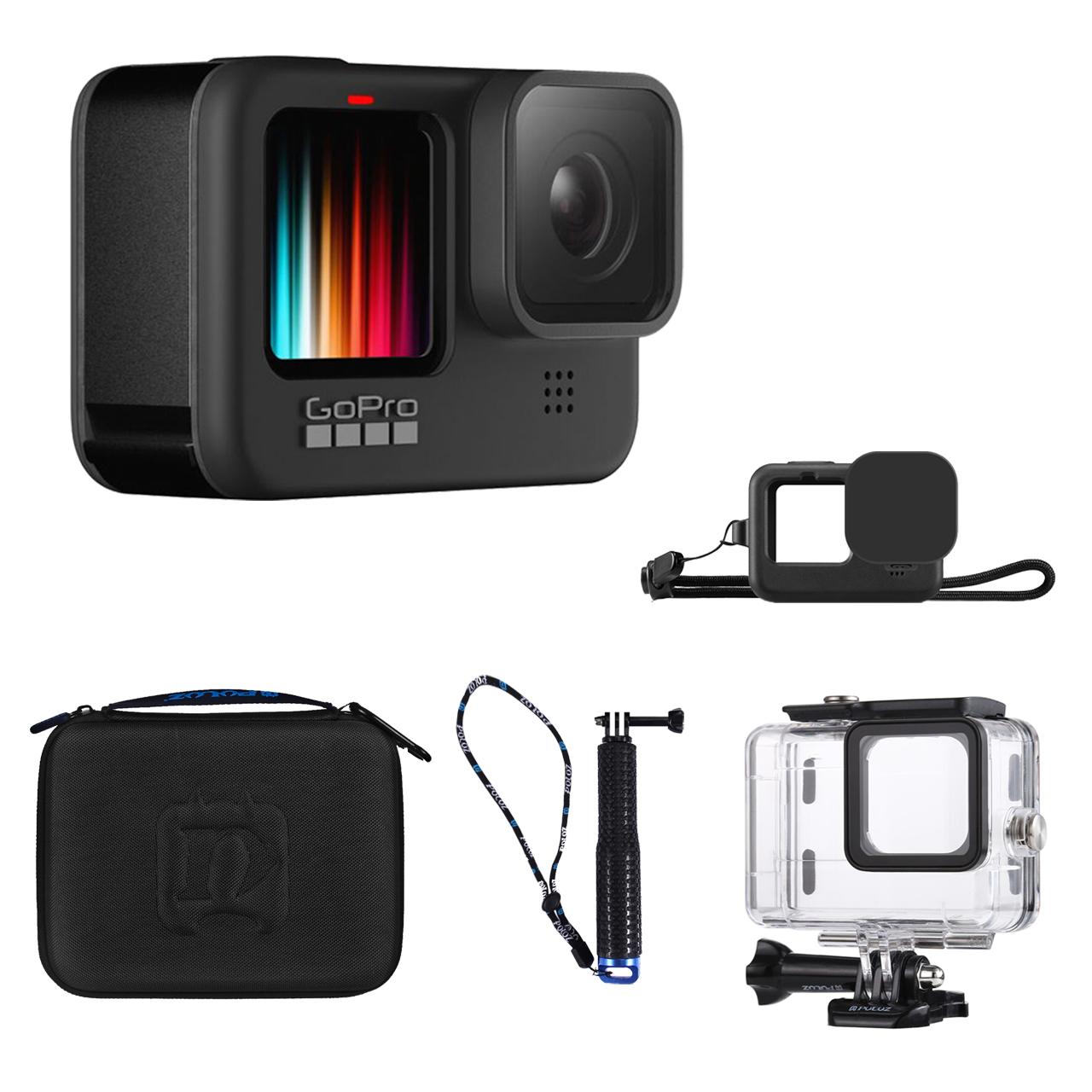 دوربین فیلم برداری ورزشی گوپرو مدل HERO 9 Black به همراه لوازم جانبی