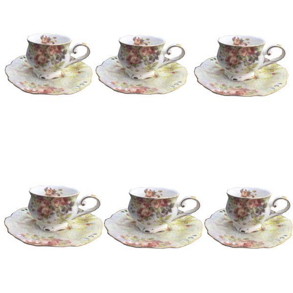سرویس چای خوری 12 پارچه لمونژ کد cr 72