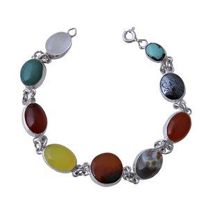 دستبند نقره زنانه بازرگانی میلادی کد DP_180