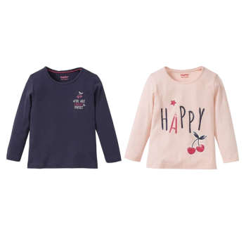 تی شرت دخترانه لوپیلو مدل 111-23 مجموعه 2 عددی