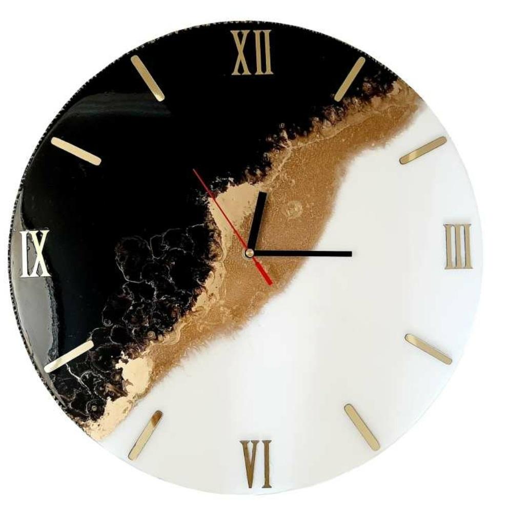 ساعت دیواری رزین طرح گنجینه کد ff_1001